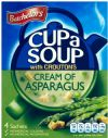 Batchelors Cup a Soup Cream of Asparagus with Croutons / Бетчлърс Крем Супа Аспержи с Крутони 4пак. / 117г