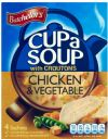 Batchelors Cup a Soup with Croutons Chicken & Vegetable 110g / Бачелорс Чаша Пилешка супа със зеленчуци - 4 бр.