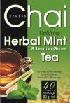 Chai Herbal Mint and Lemon Grass Uplifting Tea 40 tea bags / Чай Мента и Лимонена трева 80г